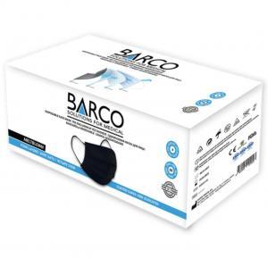 Barco 4 Katlý Çift Meltblown Maske Siyah 50'li