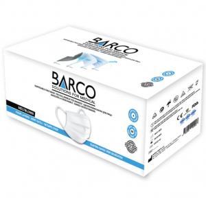 Barco 4 Katlý Çift Meltblown Maske Beyaz 50'li